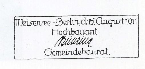 Berlin Weißensee Spaziergang - Bühring Sign - © Weißenseer Heimatfreunde e.V.