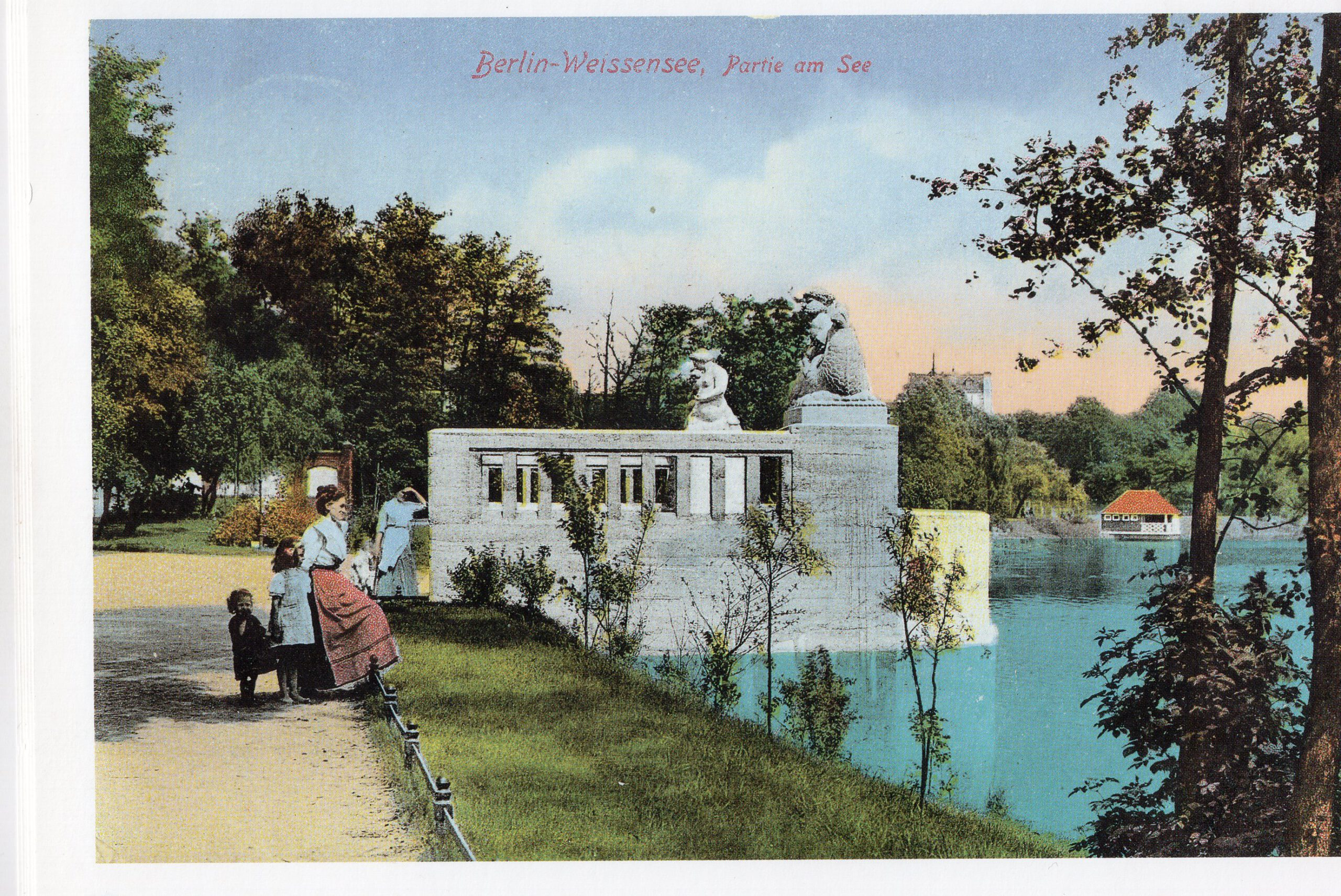Weissensee Seebrücke 1915